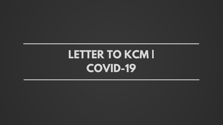 Letter to KCM | COVID-19